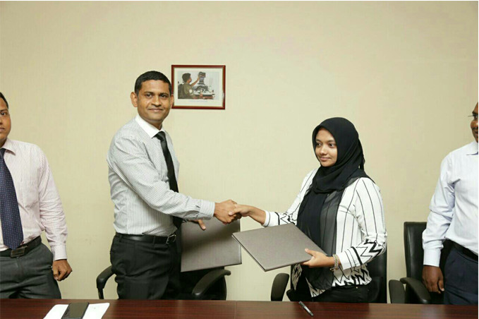 The contract to construct the flats was signed by Mr. Ali Shujau, the Vice Chairman of Polco and Ms. Khadeeja Umeyla, the CEO of the project contractor Island Expert Pvt Ltd.