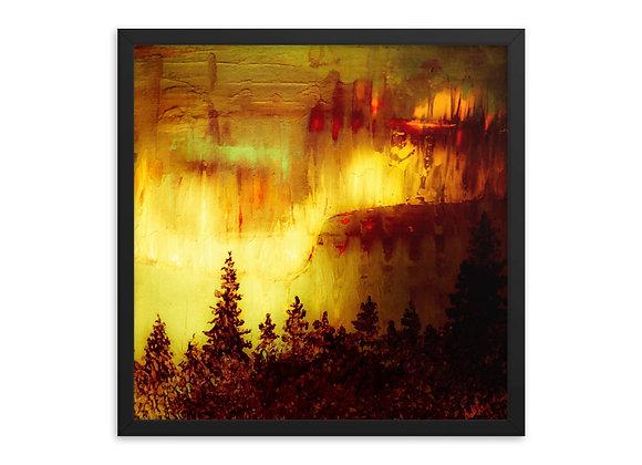 Smokey Northern Lights Framed Poster Print