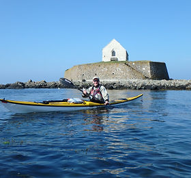 Kayaking at St Cwyfan