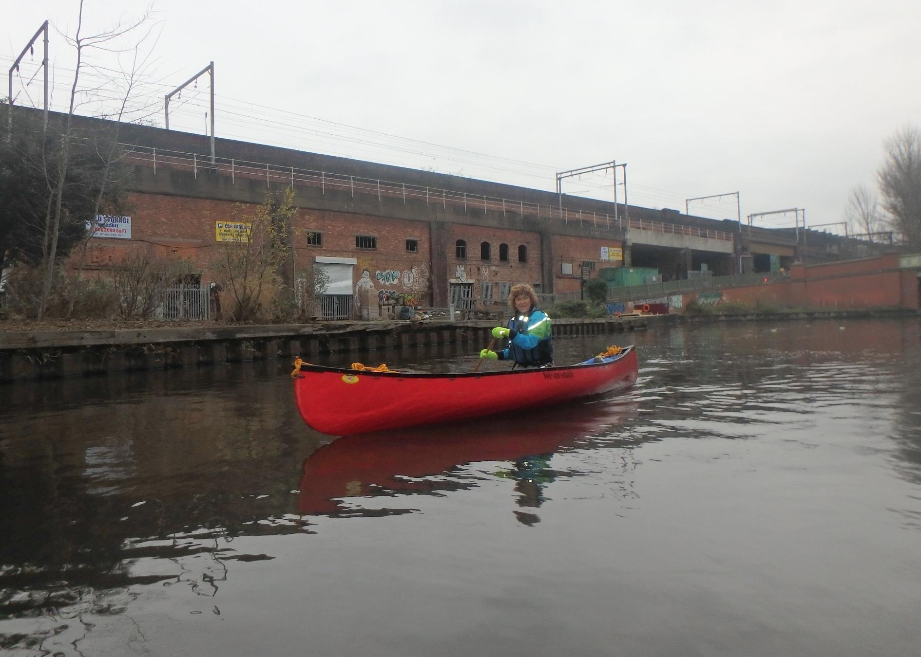Canoeing past metro