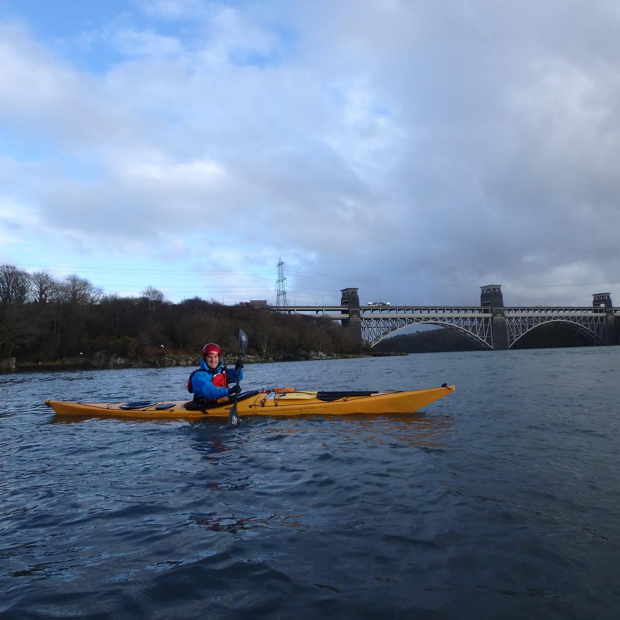 Launching near Britannia Bridge
