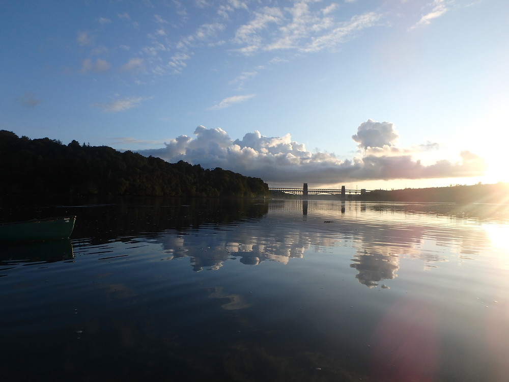 The view of Britannia Bridge on a still day!