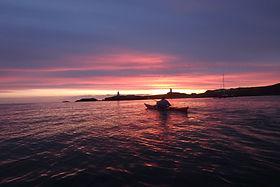 Kayaking round Llanddwyn Island