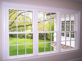 Xpel Clear View window tint on home windows in forest