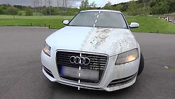 Audi A6 with Ceramic Pro ceramic coating showing self cleaning