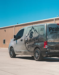 Full coverage custom printed vinyl wrap on Hexis Silver Rainbow on a Ford Transit Connect