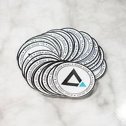 Custom printed vinyl decals on printed vinyl marble counter top