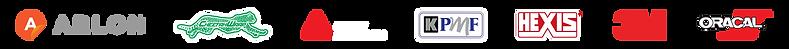 Arlon Cheetah Wrap Avery Dennison KPMF Hexis 3M Oracal vinyl brand logos