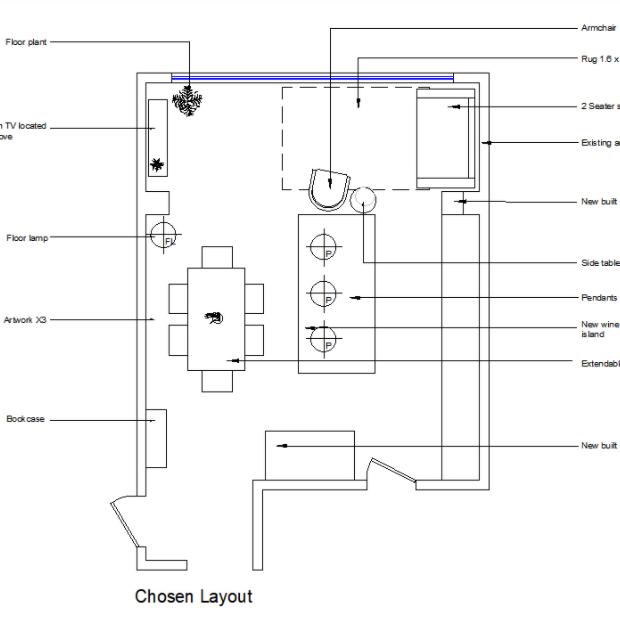 Kitchen 2D Floor Plan Interior Design