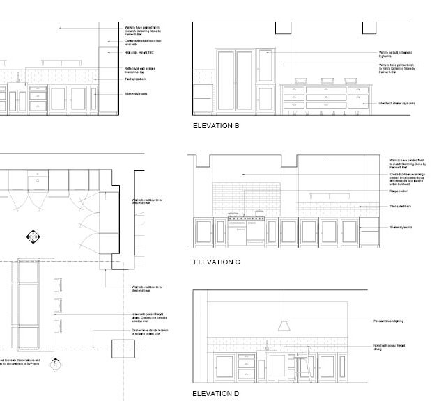Kitchen Design Technical Drawing