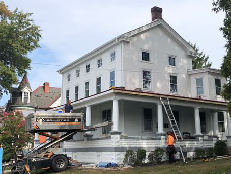 Museum Gets New Porch Roof