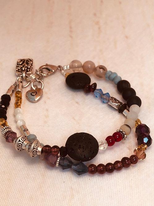 Lotus Flower Rock Scent Bracelet