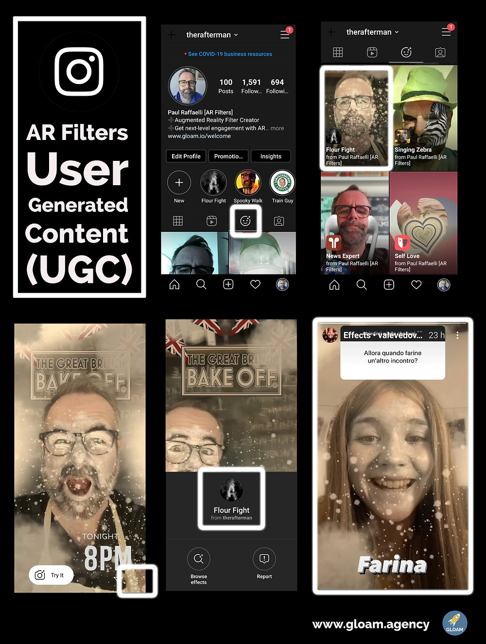Who's used your Instagram AR Filter UGC content and videos are on your profile