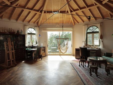 「母と娘の創作基地は 『パオ』のような、8角形の家」を公開!