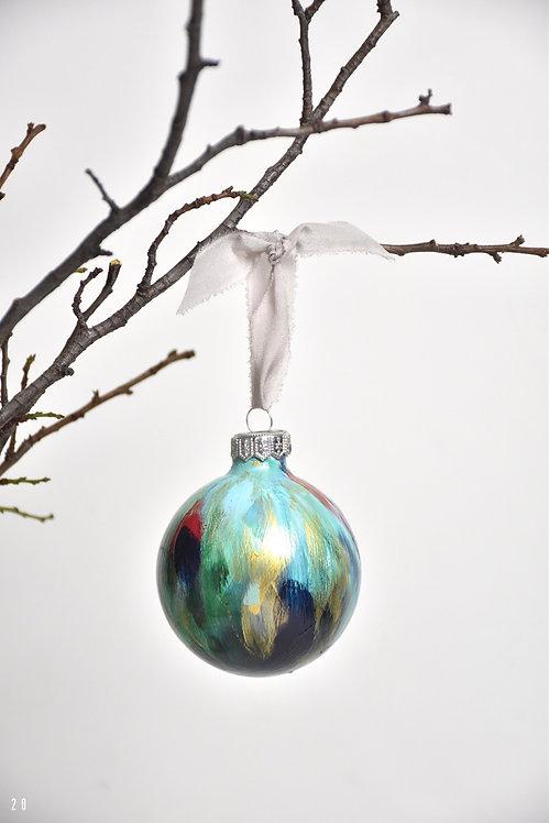 handpainted ornament - 8 cm -  glass  n20