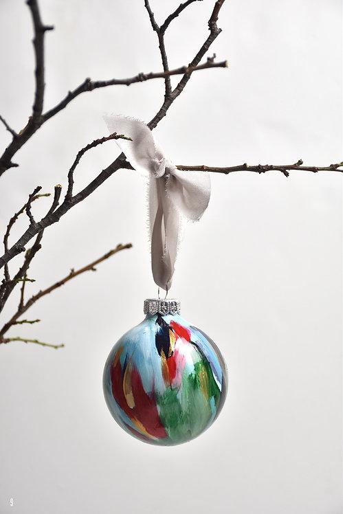 handpainted ornament - 8 cm -  glass  n9