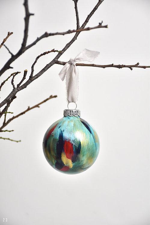 handpainted ornament - 8 cm -  glass  n23