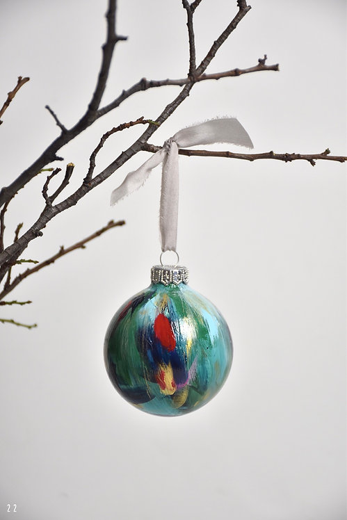 handpainted ornament - 8 cm -  glass  n22