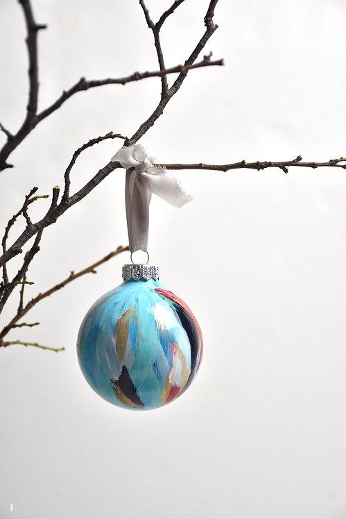 handpainted ornament - 8 cm -  glass  n8