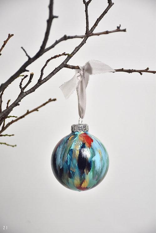 handpainted ornament - 8 cm -  glass  n21