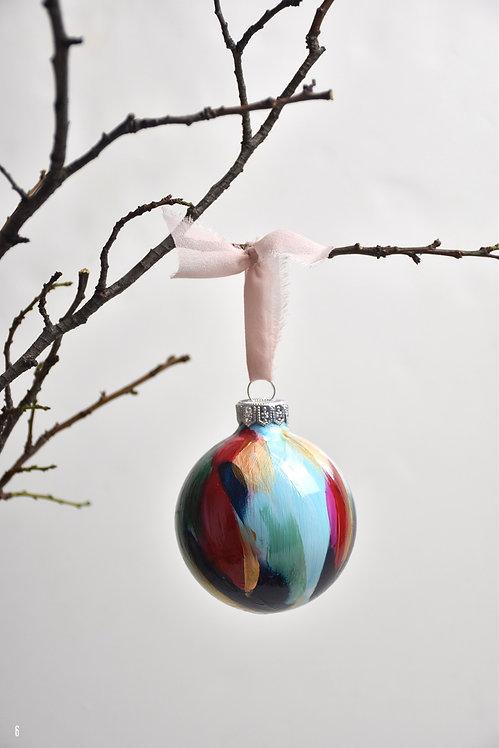 handpainted ornament - 8 cm -  glass  n6