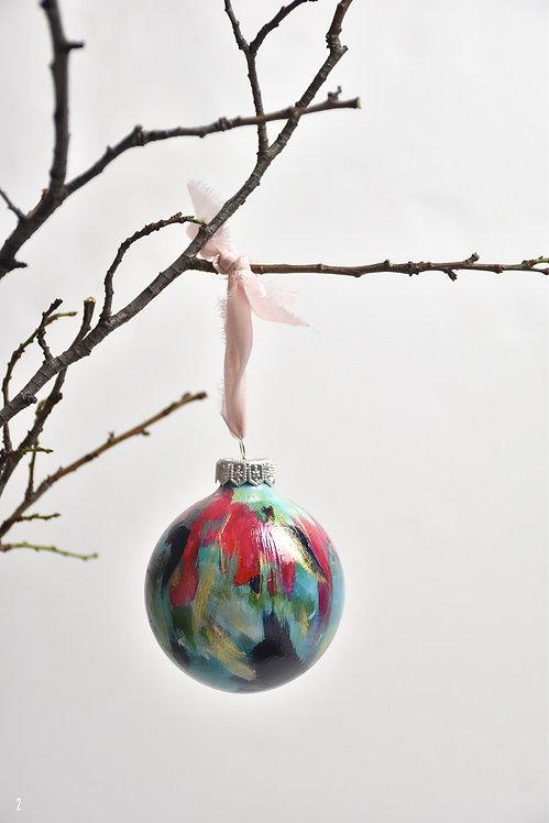 handpainted ornament - 8 cm -  glass  n2