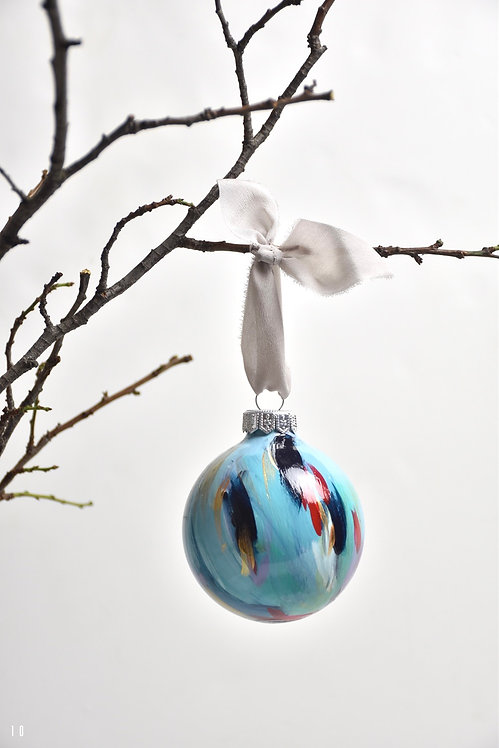 handpainted ornament - 8 cm -  glass  n10