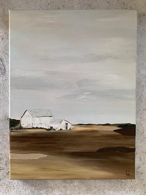 farm house - original mixed media
