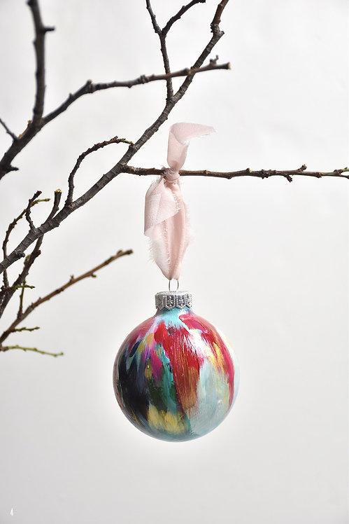 handpainted ornament - 8 cm -  glass  n4