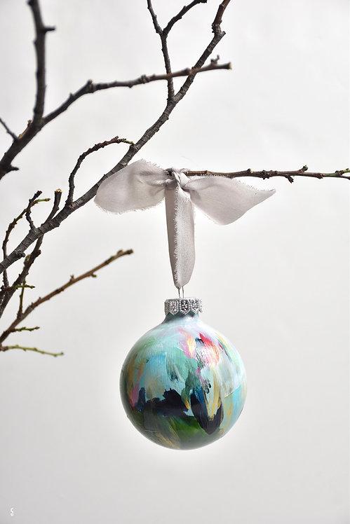 handpainted ornament - 8 cm -  glass  n5