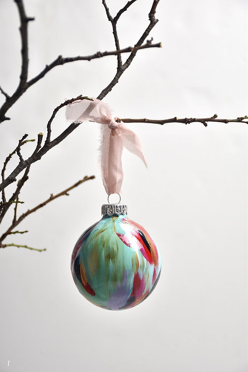 handpainted ornament - 8 cm -  glass  n7