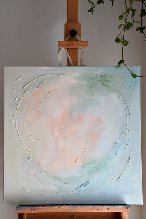 Water-lily / original mixed media painting
