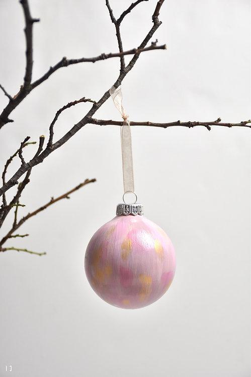 handpainted ornament - 8 cm -  glass  n13 -COLL2019