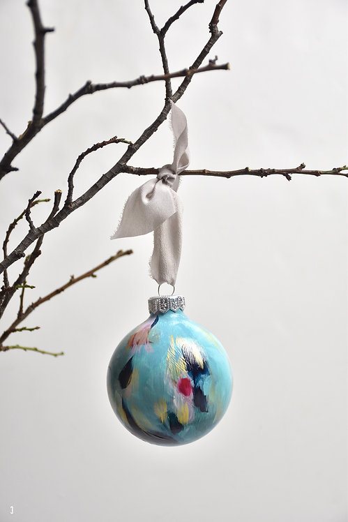 handpainted ornament - 8 cm -  glass  n3