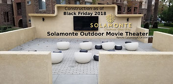 Solamonte Outdoor Movie Theater Black Fr