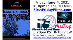 """JZ Murdock's """"Eagles & Crows, a fable"""" Banner 2021 FFF"""