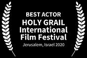 Best Actor-HOLY GRAIL, Jerusalem, Israel