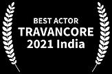 Best Actor TRAVANCORE 2021 India