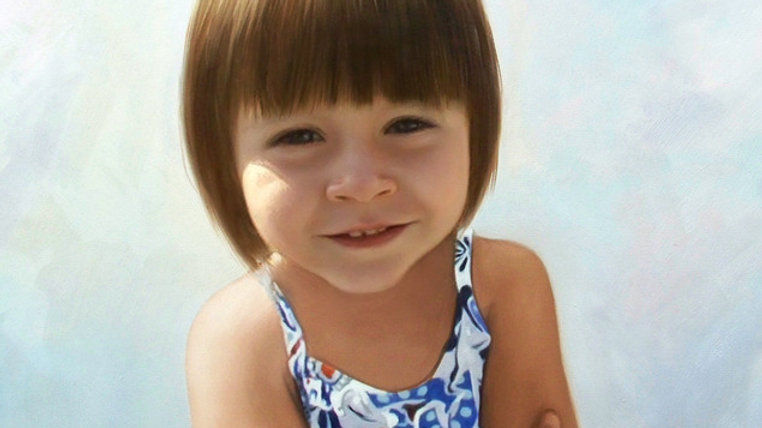 """Portrait Painting Services. 48"""" x 72""""(With Frame). 绘画服务."""
