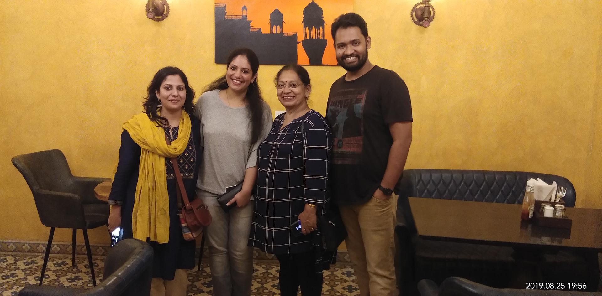 Ms Tabeena Anjum, Qureshi, Deccan Herald with Mrs. Aditi Gaur, Editor, Blub World, Mrs. Veena Gaur, Chairperson, Blub World and  Mr. Daksh Gaur, Founder, Blub World