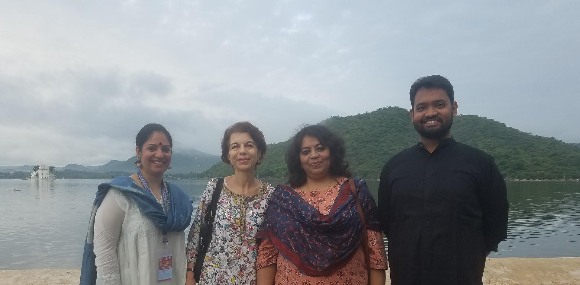 Mrs. Aditi Gaur, Editor, Blub World with Ms. Isabelle Barden - SEVEDE, PhD. Chief Field Office, Ms. Suchorita Bardhan Communication Specialist at UNICEF India, and Mr. Daksh Gaur, Founder, Blub World