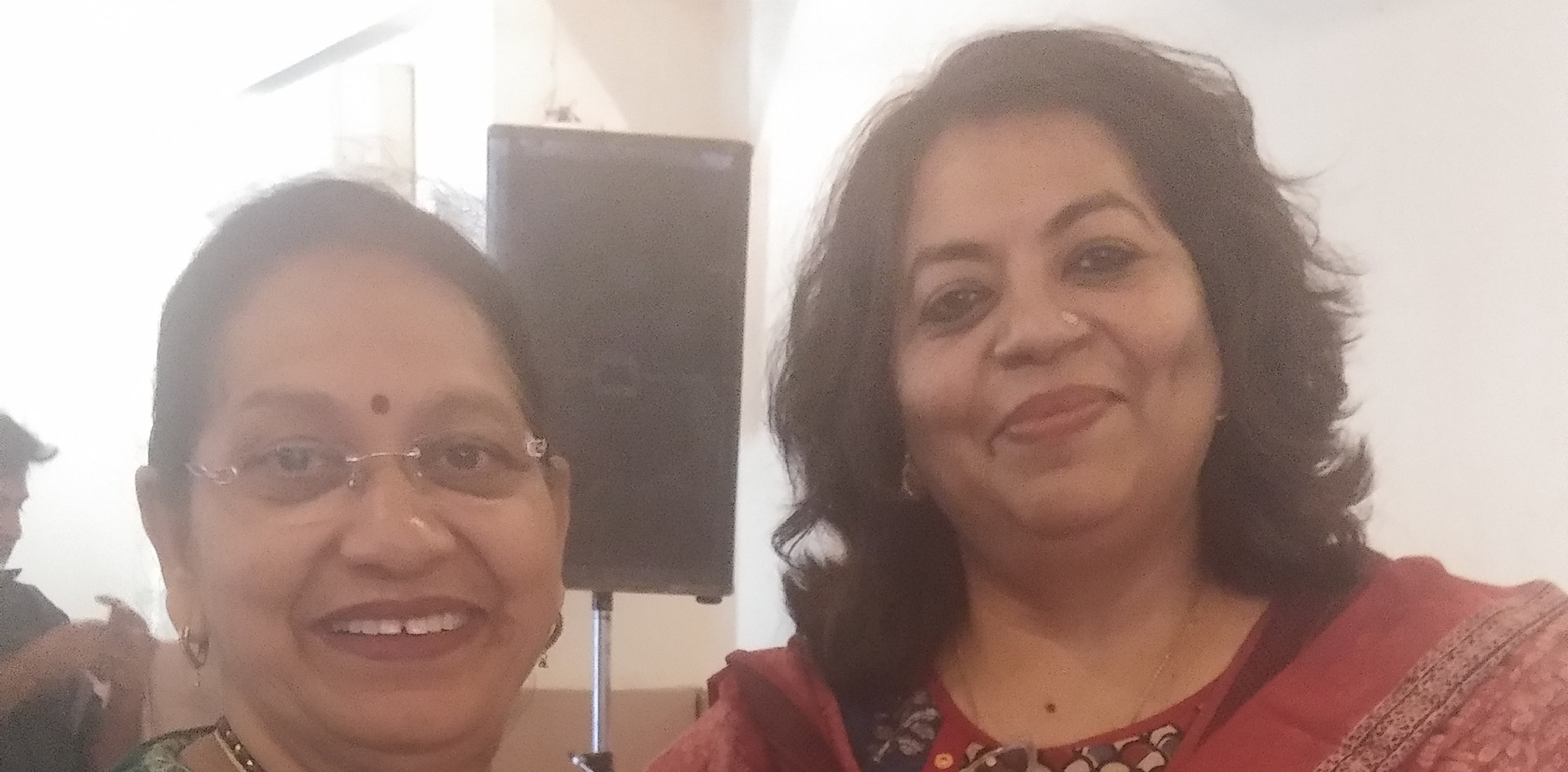 Ms. Veena Gaur, Chairperson, Blub World sharing a light moment with Ms. Suchorita Bardhan, Communication Specialist, UNICEF India