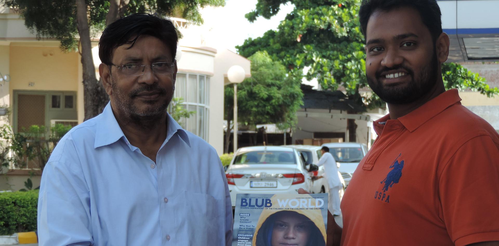 Mr. Rajeev Ranjan Nag, President, Indian Working Journalists Federation with Mr. Daksh Gaur, Founder, Blub World