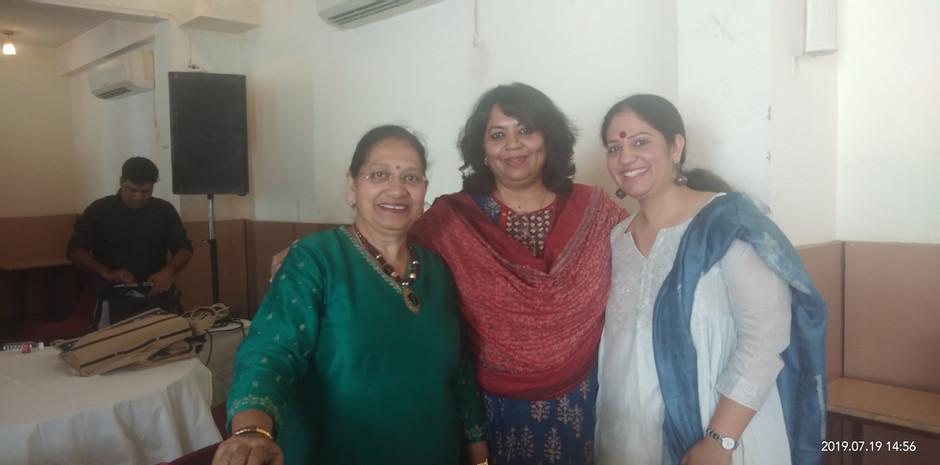 Ms. Veena Gaur, Chairperson, Blub World and Mrs. Aditi Gaur, Editor, Blub World with Suchorita Bardhan, Communication Specialist, UNICEF India