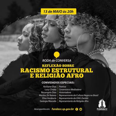 FUNDACC promove roda de conversa sobre racismo e religião