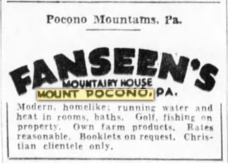 Fanseen's Mount Airy Lodge - Mt. Pocono