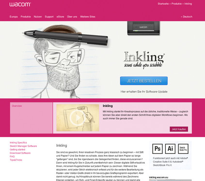 Inkling lading page