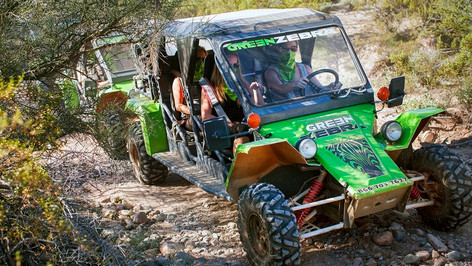 Enjoy an exciting day in the famous Sonoran Desert, off-roading in a single-passenger ATV or 4-Seater UTV. You drive as your guide leads the way through adventurous, mountainous trails that are sure to impress even the most experienced drivers!