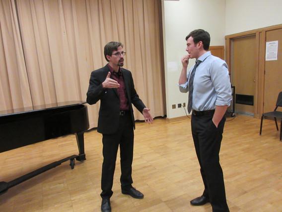 Evan and John, recording