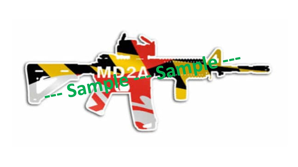Maryland 2A Decal - Rifle